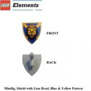 Lego Parts: Minifigure Lion Shield & Coat Of Arms Tile