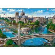 Puzzle Castorland - Paris Notre Dame, 500 Piese