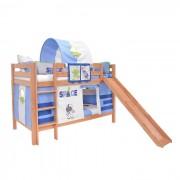Dečiji krevet na sprat sa toboganomMark Tobogan Natur Space