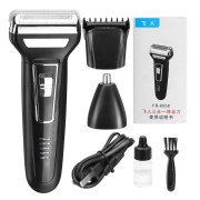3 In 1 Reciprocating Electric Shaver Electric Razor Shaver Rotary Shaver Portable Face Shaver Rechargeable Beard Trimmer USB Cordless Nose Trimmer