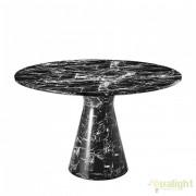 Masa dining LUX din marmura artificiala neagra Turner 110660 HZ