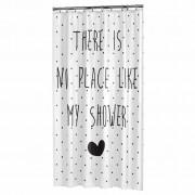 Sealskin Shower Curtain Lyrics 180 cm Black and White 233581319