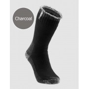 [6 Pack] Holeproof Explorer Young Marle Wool Blend Socks Charcoal S1140K