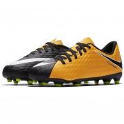 Tenis Fútbol Niño Nike Jr HypervenomX Phade III FG -Verde Con Naranja