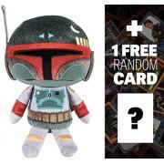 Boba Fett: Funko SuperCute Plushies x Star Wars Plush + 1 FREE Official Star Wars Trading Card Bundle (111089)
