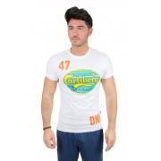 Carlsberg T-Shirt Bollo, Taglia: XL, Per adulto Uomo, Bianco, CBU2621-BIANCA