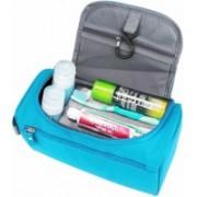 Ridham Enterprise Travel Bag Toiletries Portable Storage Bathroom Organizer for Unisex with Hanging Travel Toiletry Kit(Blue)