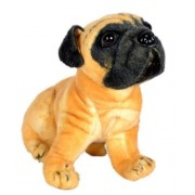 Laraib Trading New Stuffed Orignal Attractive Looking Security Purpose & Kids Playing Dog's German Shepherds (small, Pug Dog) (small)