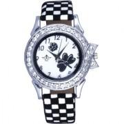 Flowers Black Art Analoge Ladies Wrist Watch By Google Hub