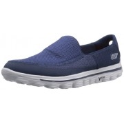 Skechers Men's Go Walk 2 Navy Blue and Grey Nordic Walking Shoes - 9 UK/India (43 EU) (10 US)
