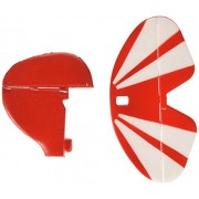 E-flite Tail Set w/Accessories: UMX Pitts S-1S