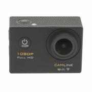 Camera video de actiune Full HD 1080p Wi-Fi negru, Camlink