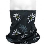 Merkloos Morph sjaal zwart met edelweiss bloemen