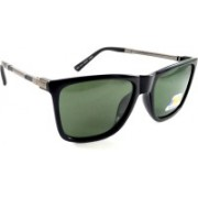 swag eyewear Retro Square, Over-sized Sunglasses(Green)