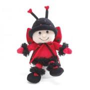 "Little Ladybug with Hat 6.5"" Plush- Red & Black"