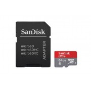 SanDisk MicroSDXC Ultra 64GB 80MB/s UHS-1 m/adapter