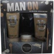 TIGI Bed Head For Men Man On Presentset 250 Shampoo + 200ml Conditioner + 85g Workable Wax