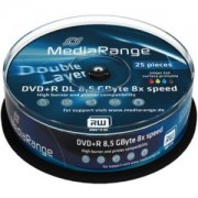 DVD+R MediaRange Dual Layer 240мин./8.5Gb 16X (Printable) - 25 бр. в шпиндел