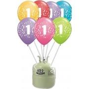 Heliumtank Leeftijdballonnen 1 t/m 10 Jaar 20x