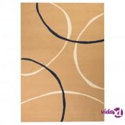vidaXL Moderni tepih s uzorkom krugova 140 x 200 cm smeđi