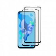 Set 2 folii protectie sticla securizata fullsize pentru Huawei P20 lite 2019 / Nova 5i negru