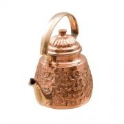 Ceainic Traditional din Cupru Gravat Manual 1 L