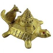eshoppee naag funn and shree / meru yantra on tortoise for health wealth and protection 12 X 8.5 X 6 CM