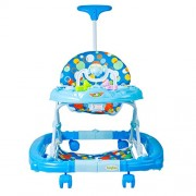 GoodLuck Baybee Trebula Walker cum Rocker | Music & Light Function With 3 Position Height Adjustable with Control Push Bar (Blue)