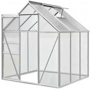 Aliuminiowa Szklarnia Ogrodowa 190x195 + Fundament