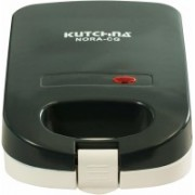 KUTCHINA Nora Cg 750 Watt Nonstick Sandwich Maker, Black Grill(Black)