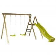 Plus Danmark Schommelframe vuren geimpregneerd Ladder 2 schommelplanken + glijbaan lime
