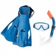Комплект за гмуркане с плавници BESTWAY Hydro Swim 25020 - син, BW25020-blue