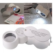 Magnifier 40X 25mm Jewelers Loupe Magnifying Glass LED Lighted & UV Lights