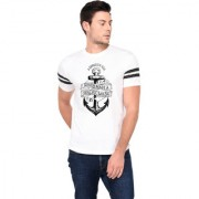 TRENDS TOWER Half Sleeve Round Neck Mens T-Shirt White Color Anchor Graphics Print