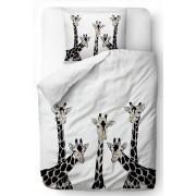 Home bianchi biancheria da letto Butter Kings Friendly Giraffes 140x200cm