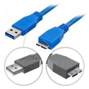 . USB 3.0 kabel, Typ A ha - Typ Micro B ha, 3m, blå