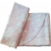 Set de cuvertura de pat Valentini Bianco cu 2 fete de perna din bumbac jackard model Fust177 Roz