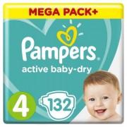 Pampers Подгузники Active Baby Dry Maxi р.4 (9-14 кг) 132 шт.