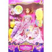 Vini Toys Girl Makeup Set Wardrobe Dresses Comb Kelland (Dress May Vary)