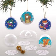 Baker Ross Winter Woodland Colour-in Baubles (Pack of 8)