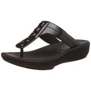 Clarks Women's Wave Pop Black Slippers - 7 UK/India (41 EU)