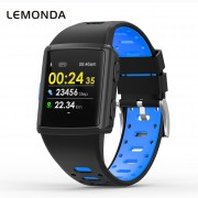 LEMONDA M3 GPS Sports Smart Watch 1.3 inch HD IPS Screen Six Watchfaces Real-time Activity Tracking - Black/Blue