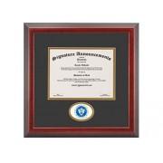 Signature Announcements State-University-of New-York-at-Fredonia Marco de Diploma de graduación Profesional/médico con Sello de Aluminio esculpido de 16 x 16 Pulgadas, Cereza