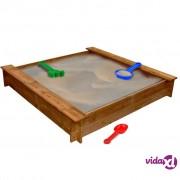 vidaXL Kutija s pijeskom FSC Drvo Četvrtasta