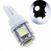 AST Works Lots 5PCS T10 5SMD 5050 5W5 SMD White 5 LED Lights Car Truck Light Lamp Bulbs