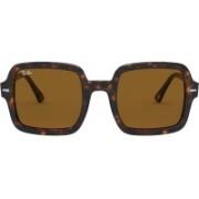 RAY-BAN Retro Square Sunglasses(Brown)