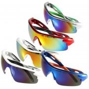 EH Deporte Ciclismo De Bicicletas Bike Riding UV400 De Protección Gafas De Sol Gafas Goggle Lentes Reflectantes Azules Caja Azul Naranja