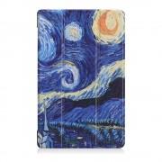 Shop4 - Samsung Galaxy Tab A 10.5 Hoes - Smart Book Case Gogh Sterrennacht