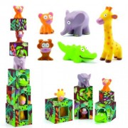 Maxi Topanijungle Joc cu cuburi si figurine