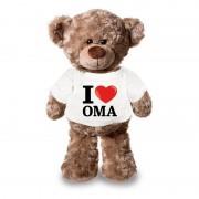 Bellatio Decorations Knuffel teddybeer met I love oma shirt 24 cm